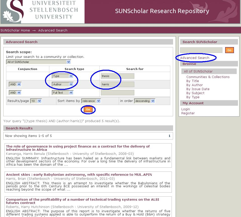 dissertation and thesis search engine